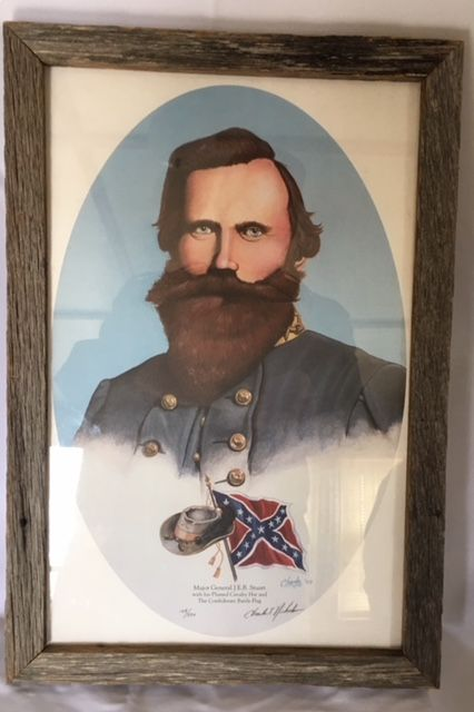 Framed print of JEB Stuart