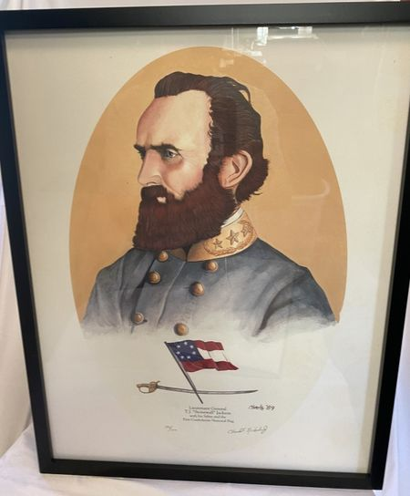 Framed print of Stonewall Jackson