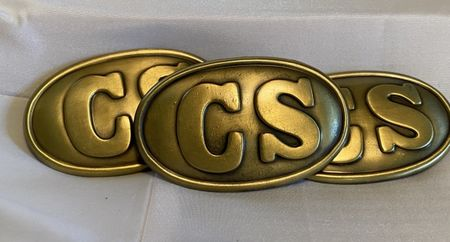 CS, Confederate States belt buckle